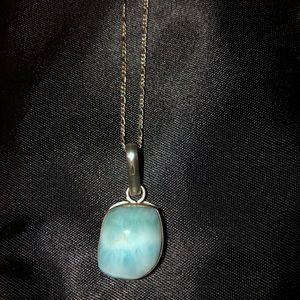 Jewelry - Larimar/sterling silver neckalace